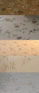 a sampling of the wallpaper throughout the house